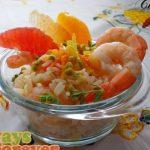 Salade Fraîche aux Trois Agrumes et Crevettes