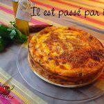 Quiche sans pâte au Chorizo, Poivrons et Tomates séchées