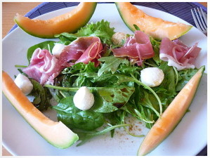 ham and melon salad