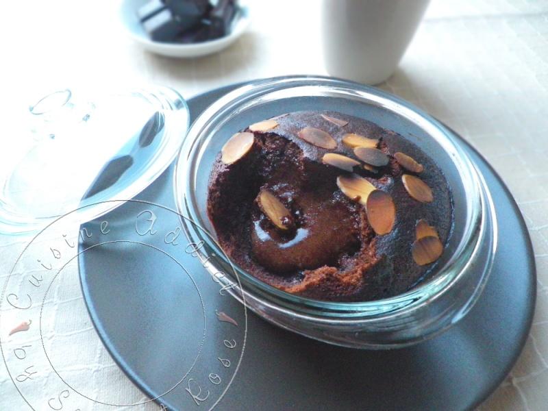 Moelleux Chocolat &#038; Amandes en</br>cocottes