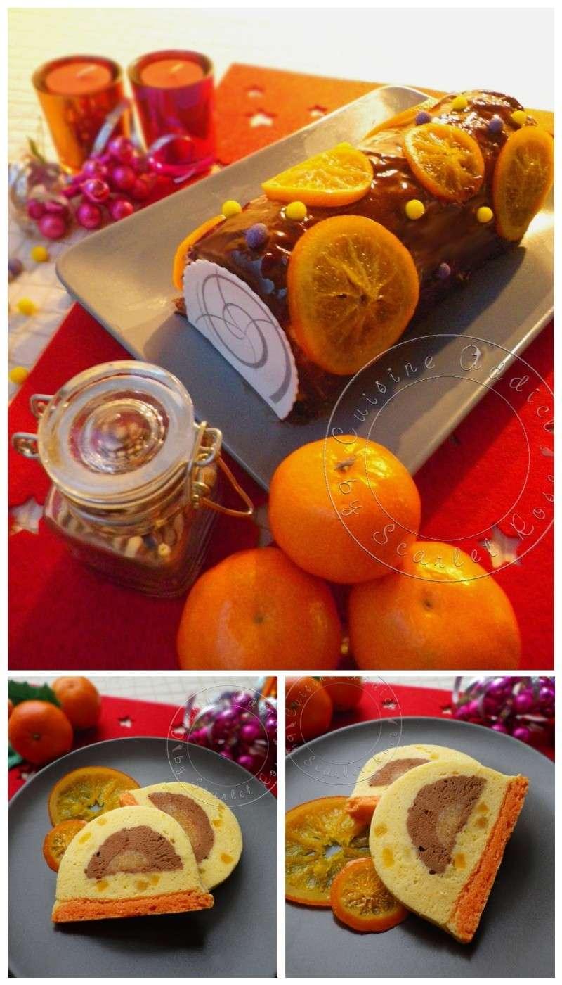 Buche noel mandarine chocolat