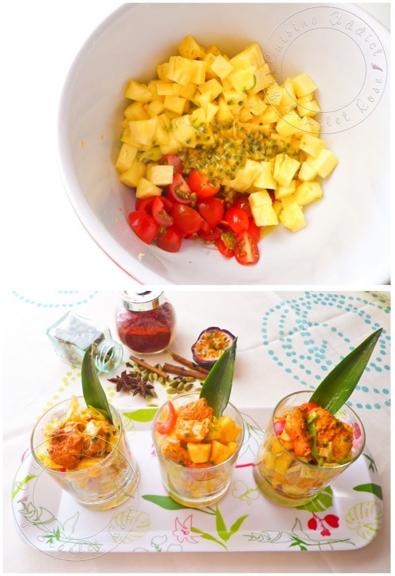 salade de poulet tandoori l 39 ananas frais cuisine addict. Black Bedroom Furniture Sets. Home Design Ideas