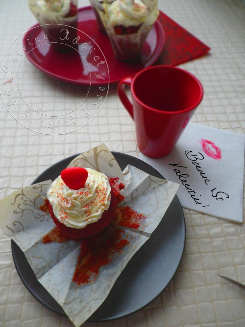 red velvet cupcake pour la St Valentin