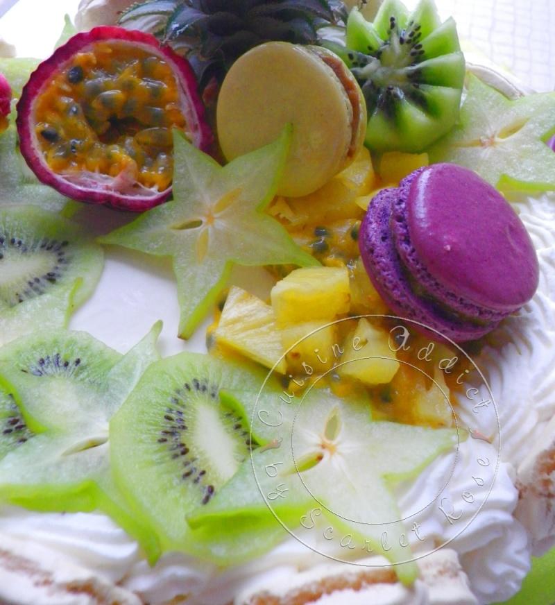 vacherin aux fruits exotiques