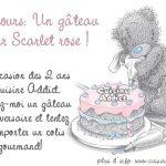Concours Un gâteau pour Scarlet rose:</br>les premiers participants!