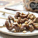 Brochettes de bœuf teriyaki aux Noix de</br>Cajou