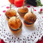 Mini Burger Tomate, Aubergine & Mozzarella