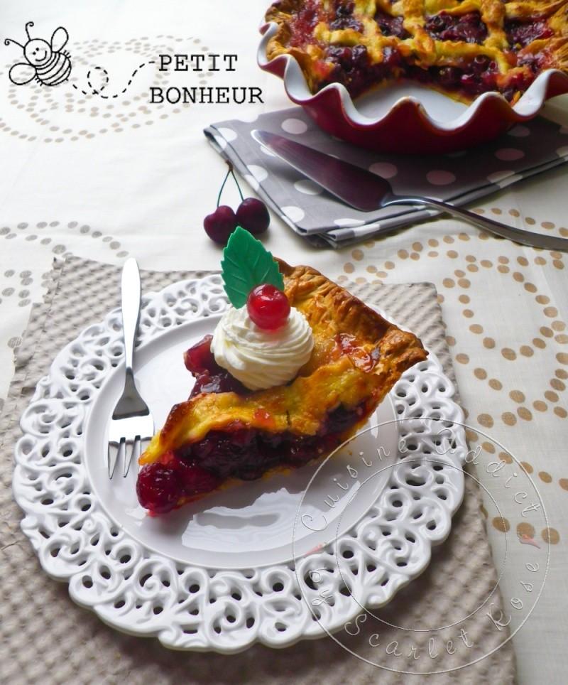 Cherry Pie {Tourte aux Cerises & Griottines} et E-Book Emile Henry