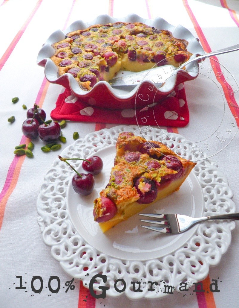 Clafoutis cerise creme calissons