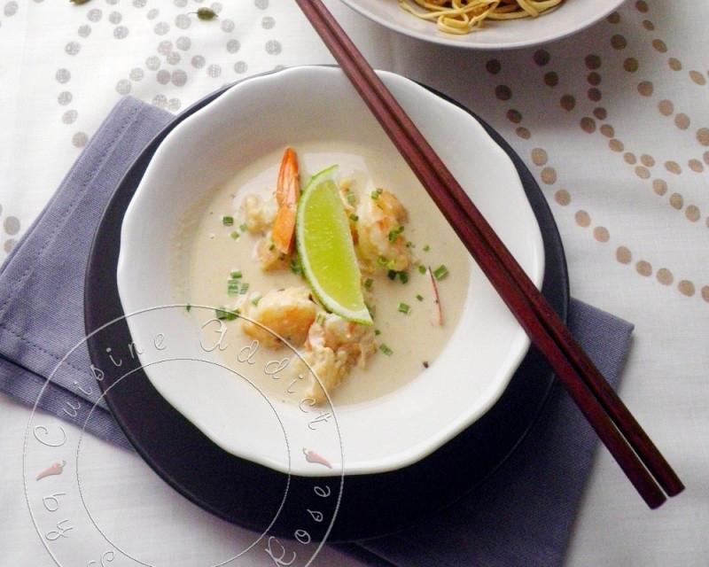 wok-crevette-green-curry