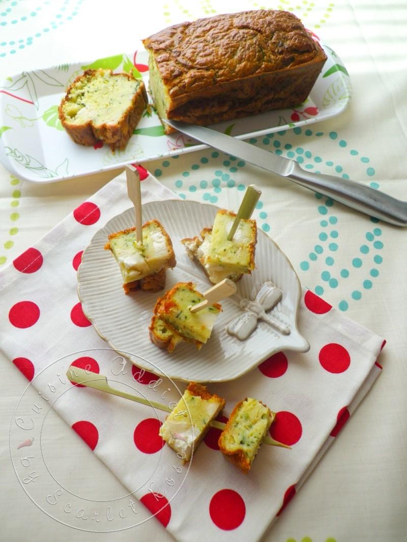 Cake à la Courgette et au fromage de</br>Chèvre