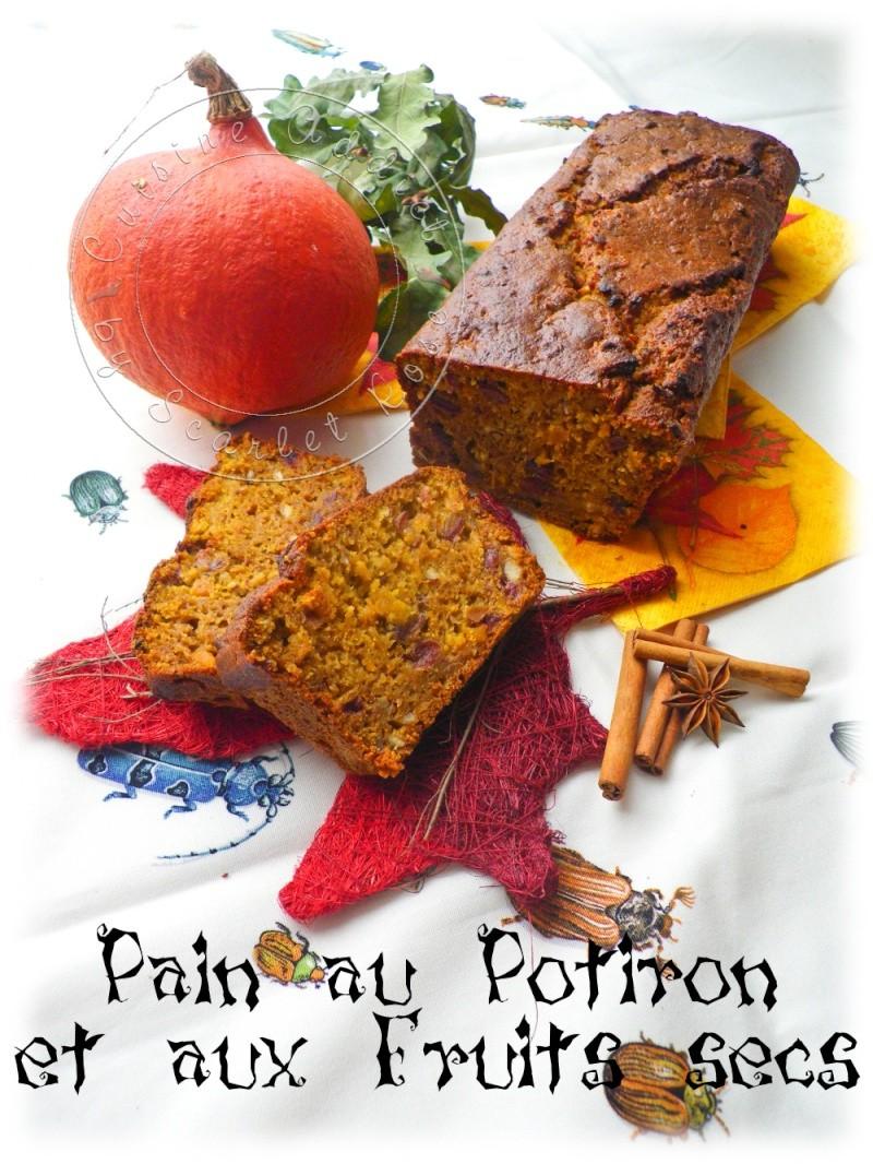 Pain automnal au Potiron &#038; Fruits</br>secs