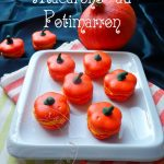 Pumpkin macarons in pumpkin shape for Halloween!