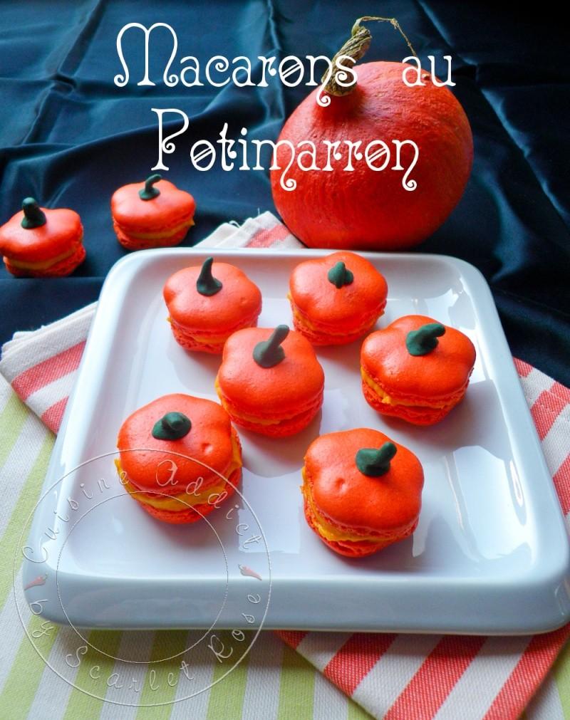Potimacarons </br>{Macarons au Potimarron en forme de Citrouille pour Halloween!}