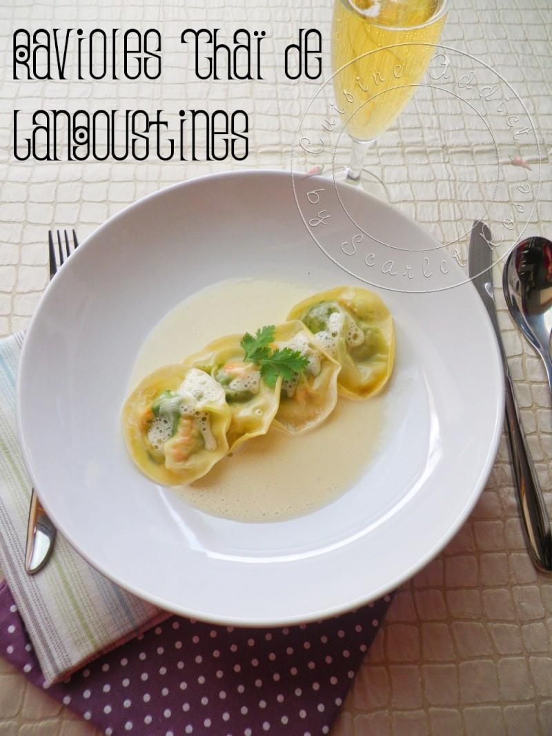 Ravioles tha de langoustines dans leur mulsion au vin for La cuisine d isabelle