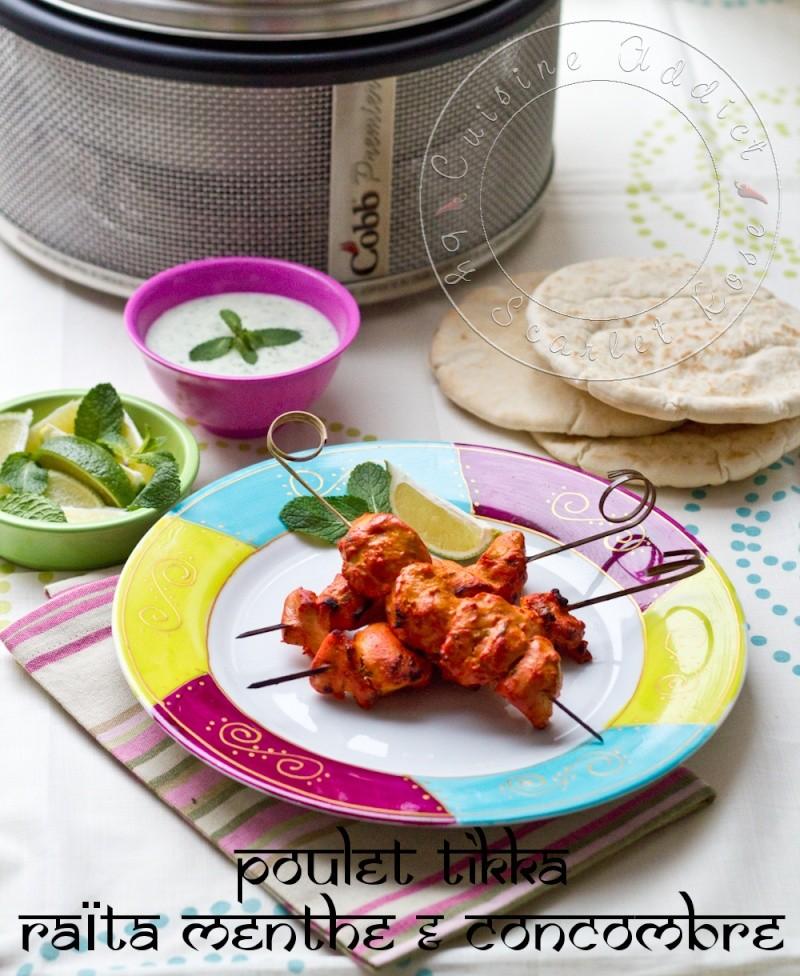 Chicken Tikka with Mint/Cumcumber sauce