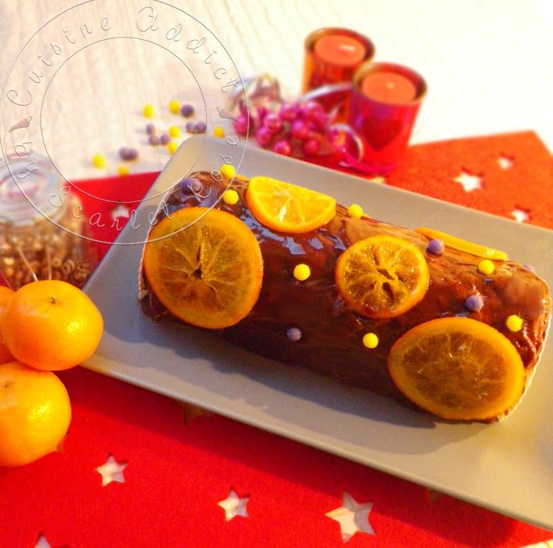 buche mandarine choco