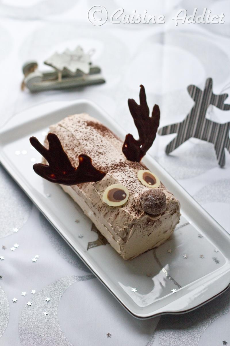 Bûche Rudolf le Renne Chocolat – Praliné {Crème au beurre à la Meringue Italienne}