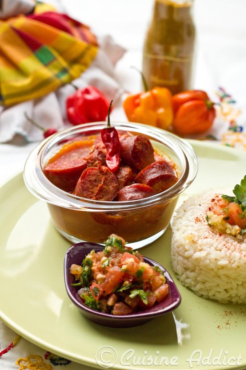 Rougail saucisses cuisine addict for Cuisine addict
