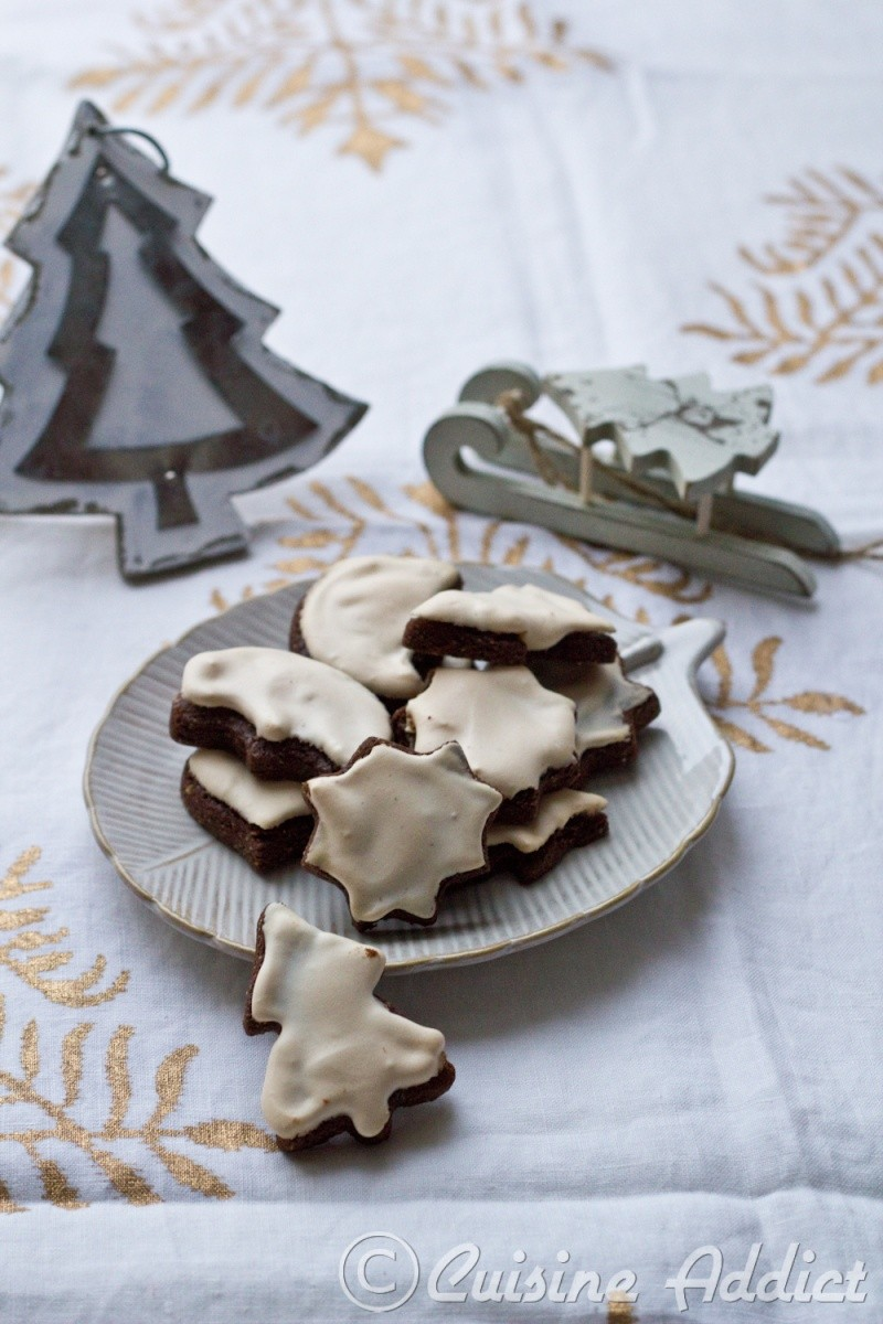bredele au chocolat et glaçage meringué