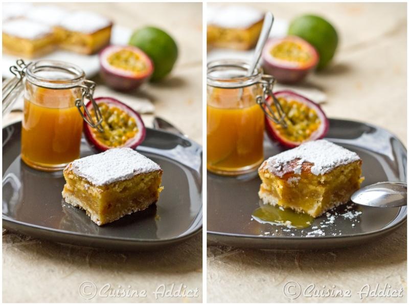 Cheesecake Aux Fruits de la Passion Carrés Fruits de la Passion
