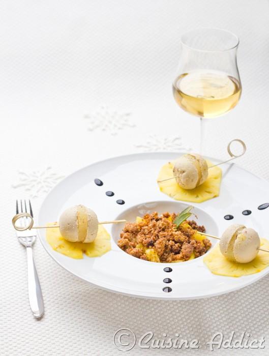 sphere foie gras ananas 2