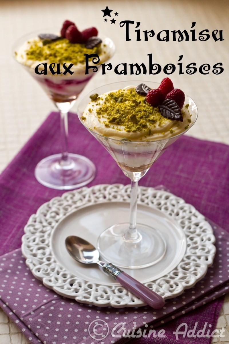 Tiramisu Aux Framboises Recette De Dessert Facile