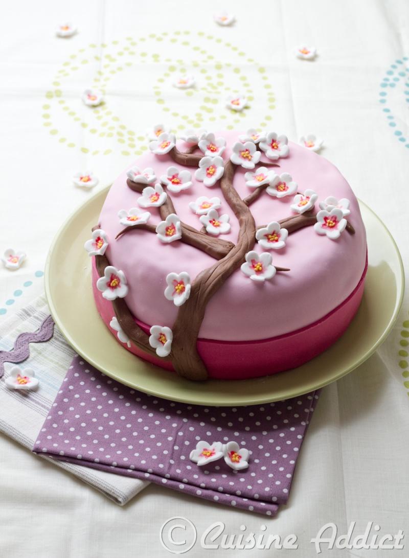 gâteau fleur de cerisier
