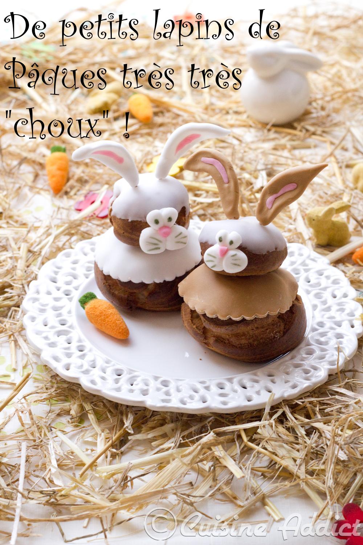 Des petits lapins tr s choux la ch taigne pour p ques cuisine addict - La cuisine des petits ...