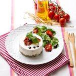 Cheesecake salé «comme en Toscane» </br>{Ricotta, Basilic et Tomates séchées}