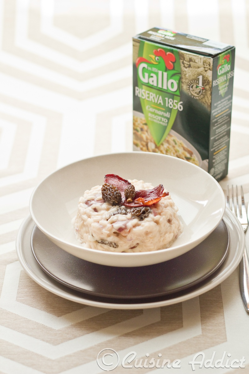 Morels and dried duck breast Risotto