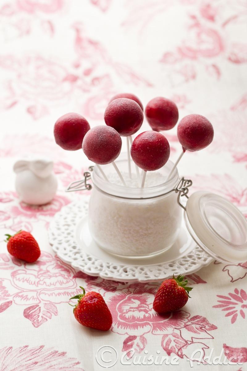 fraise pops glacé