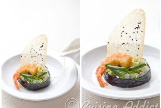 Chaud-Froid de gambas, bouillon thaï
