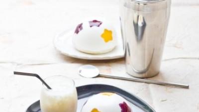 Mango Colada Cocktail & Entremet (Mousse Mangue, Mousse Coco et Framboise avec les Fruits de Monin)