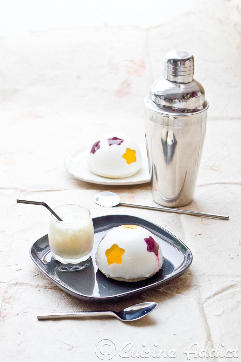 Mango Colada Cocktail & Entremet (Mousse Mangue, Mousse Coco et ...