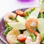 Salade Californienne aux Crevettes & Vinaigre de Mangue