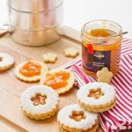 Jam filled shortbreads