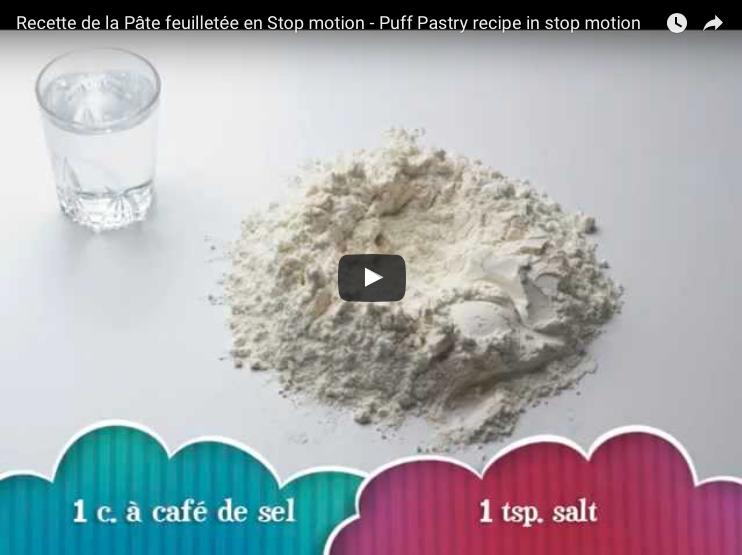 Pâte feuilletée: la recette Pas-à-Pas en Vidéo (Stop motion)