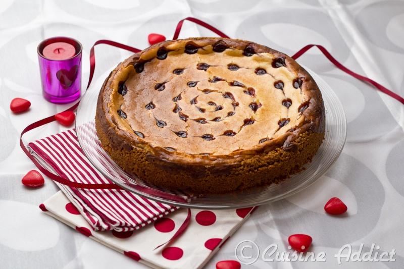 Cheesecake chocolat blanc framboise cuisine addict blog de cuisine fun et color - Cheesecake framboise chocolat blanc ...