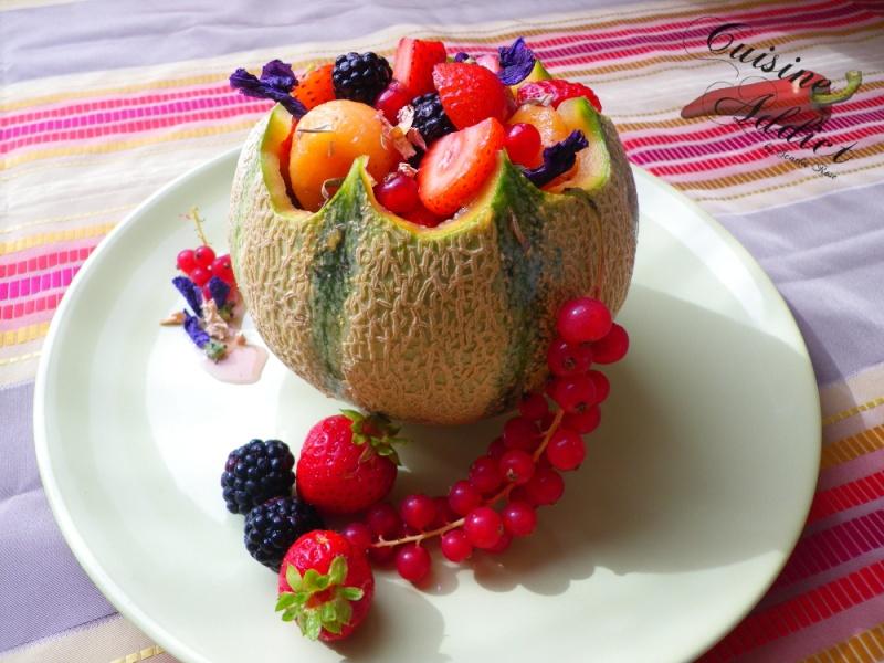 Melon aux Fruits rouges, Sirop léger</br>aux cranberries et à l&rsquo;hibiscus