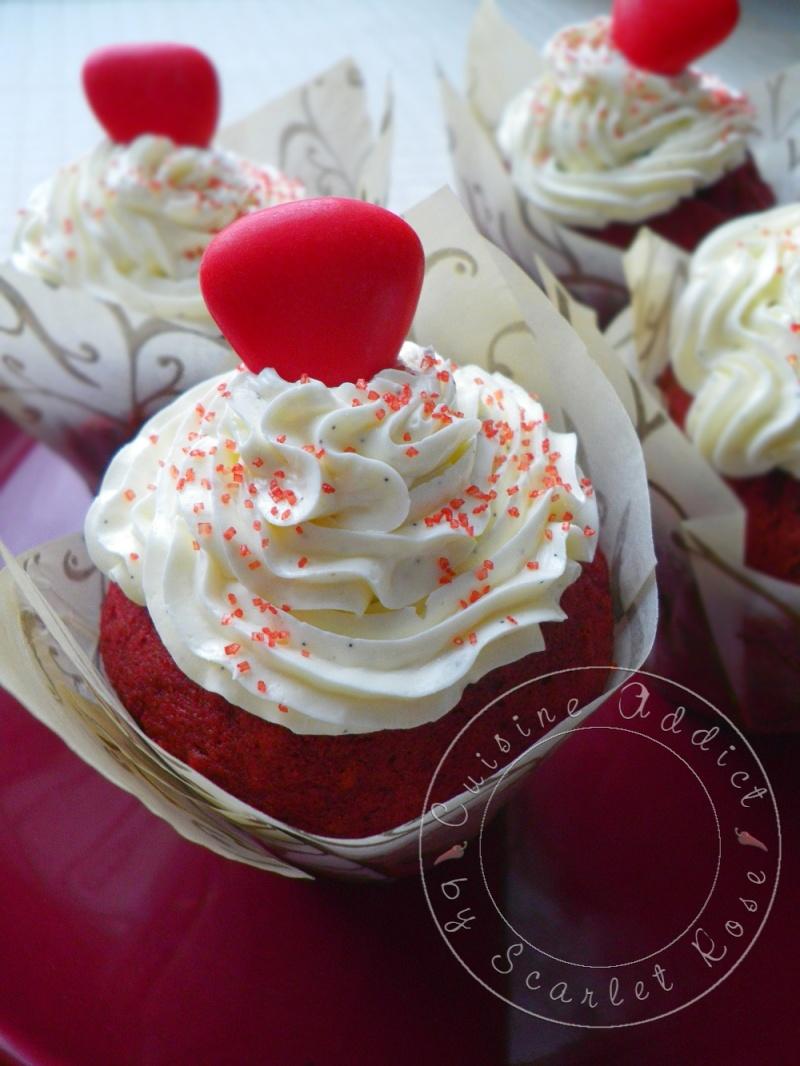 Red velvet cupcake sp cial st valentin cuisine addict - Cuisine saint valentin ...