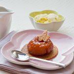 Douceur aux 2 pommes… Pomme fruit</br>confite sur sablé à la Pomme de terre
