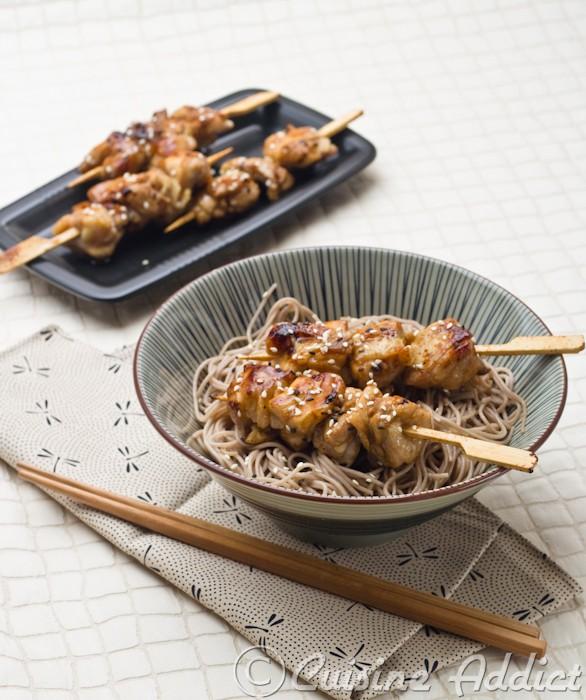 Brochettes de Poulet grillé à la Japonaise
