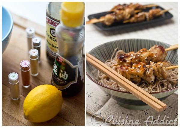 brochettes de poulet japonaises