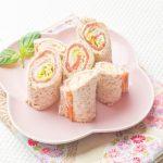 Sandwich bread Wraps with Salmon & Wasabi