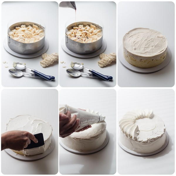 vacherin glac vanille nougat caramel meringues au lait recette de glace. Black Bedroom Furniture Sets. Home Design Ideas