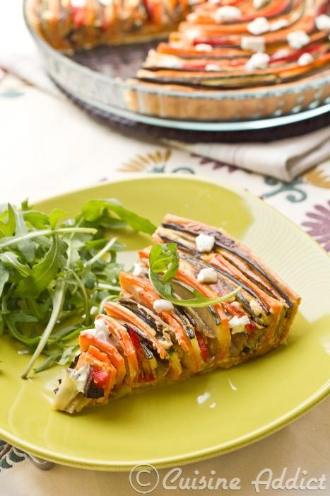 Zucchini eggplant pepper carrot spiral tart cuisine for Aubergine cuisine