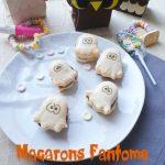 Macarons Fantôme Bonbons & Chocolat +</br>DIY «Chouette» boite à friandise</br>►Spécial Halloween◄