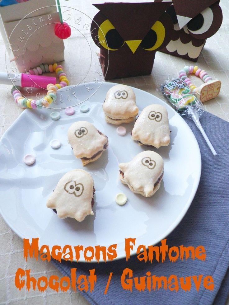 Macarons Fantôme Bonbons &#038;</br>Chocolat + DIY «Chouette» boite à</br>friandise ►Spécial Halloween◄