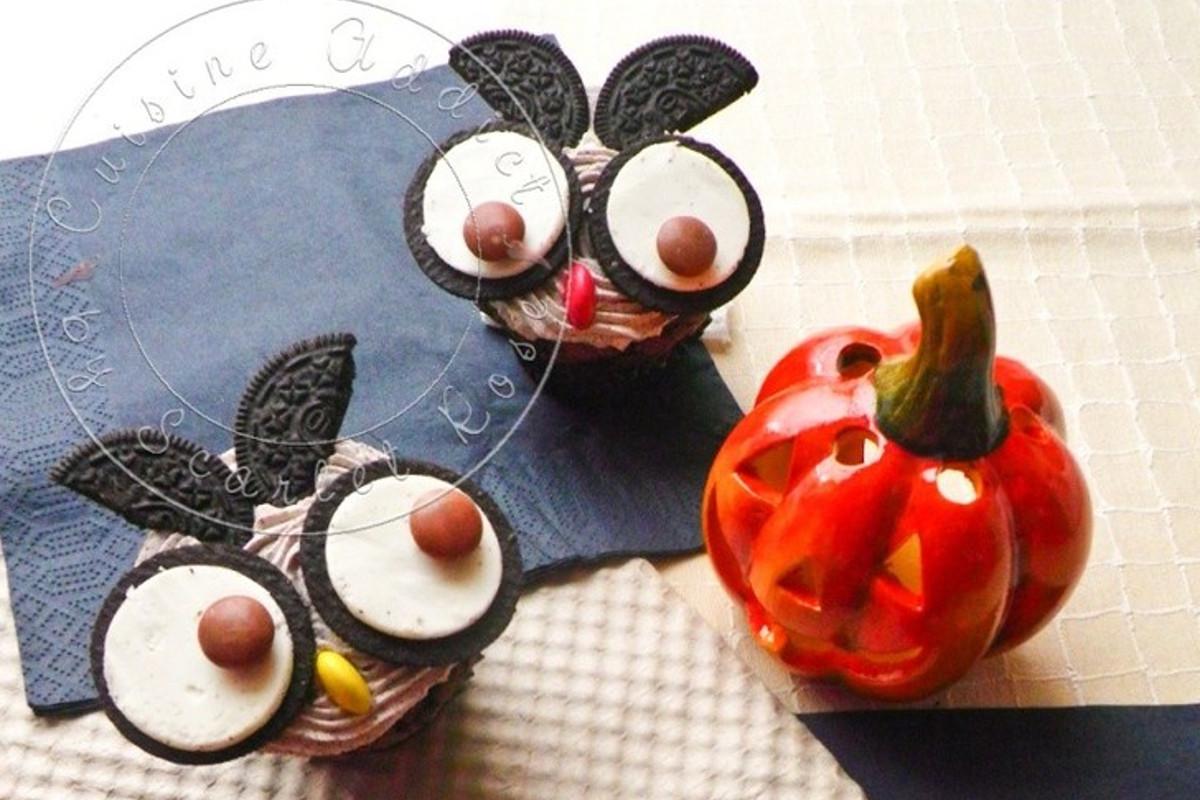 «Chouette» Cupcakes aux Oreos </br>{Spécial Halloween}